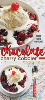 imagen de pin de zapatero de cereza de chocolate crockpot