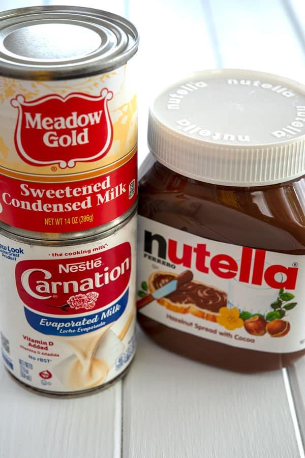 Ingredientes para limber de nutella