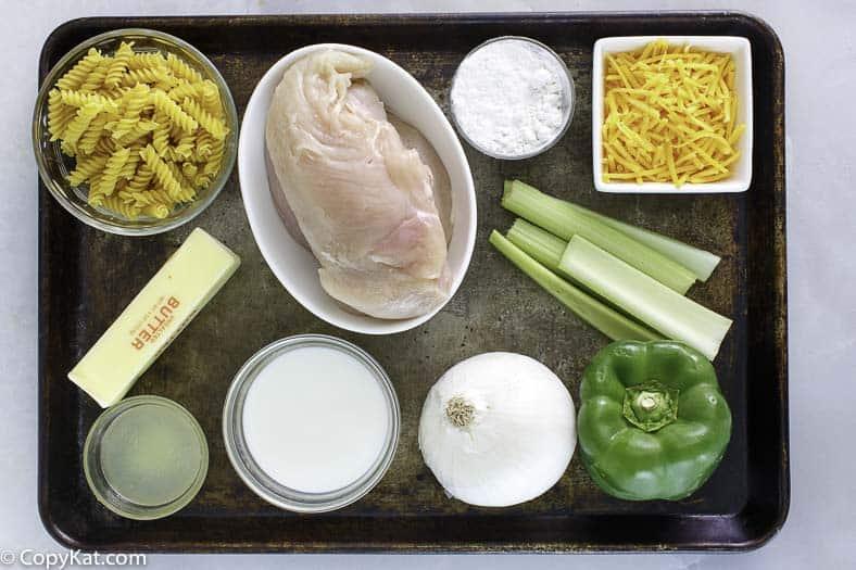vexetais de pollo e máis para facer unha cazola de polo