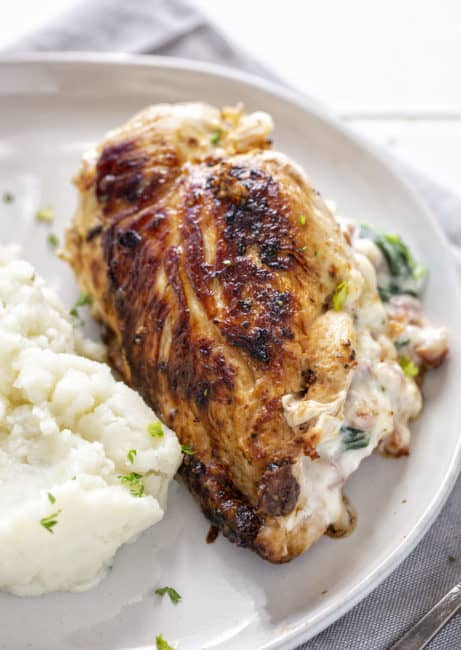 Pollo Relleno de Jamón y Queso