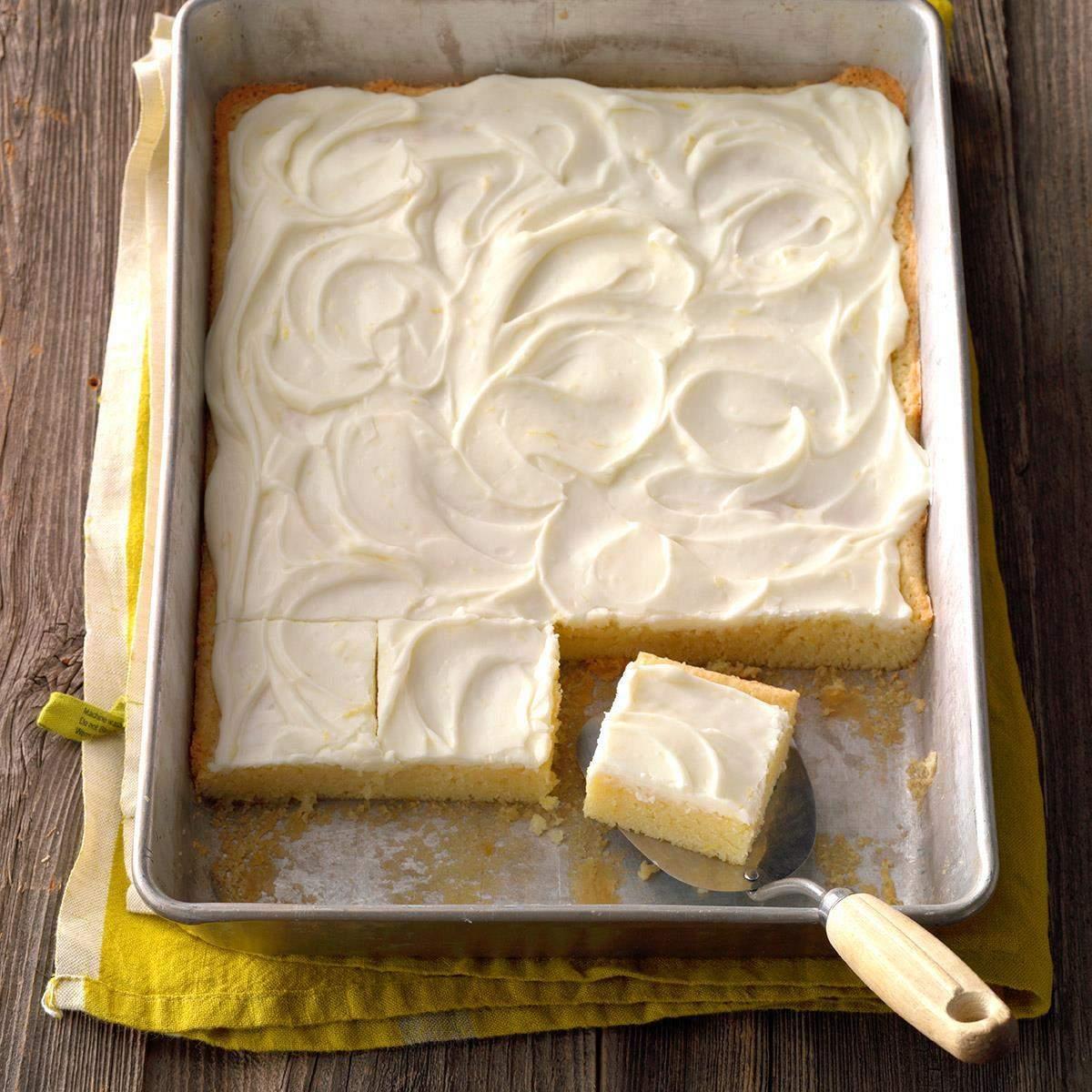 Receta de barras de limón con glaseado de queso crema