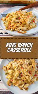 dos platos de cazuela king ranch