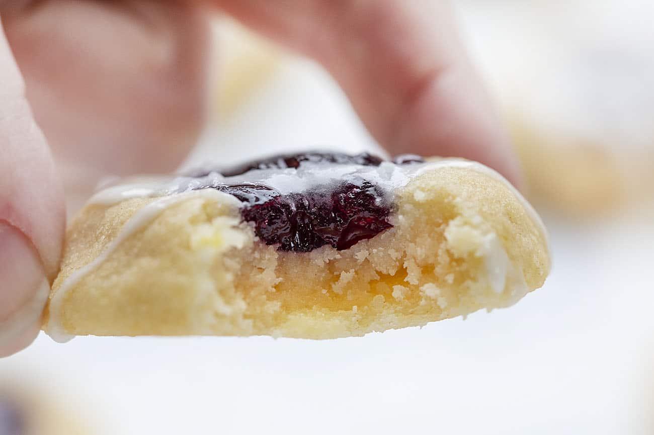 Cookie de huella digital de limón y arándano