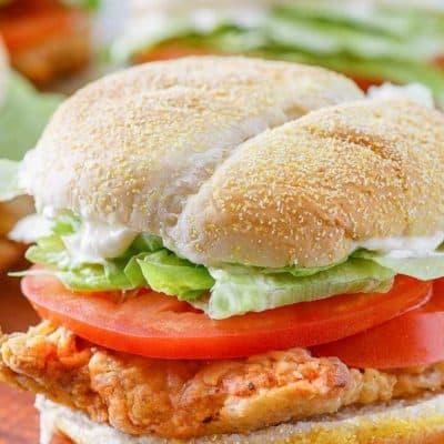 sándwich de filete de pollo frito