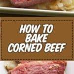 rodajas de carne en conserva al horno en un plato