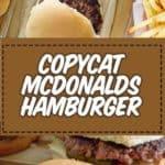 Receta de hamburguesas de Mcdonald's