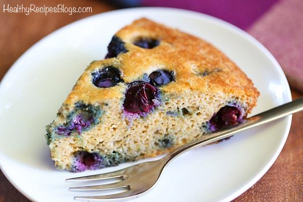Low Carb Keto Blueberry Cake