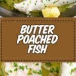 Pescado escalfado con mantequilla para la cuaresma
