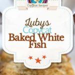 collage de fotos de pescado blanco al horno