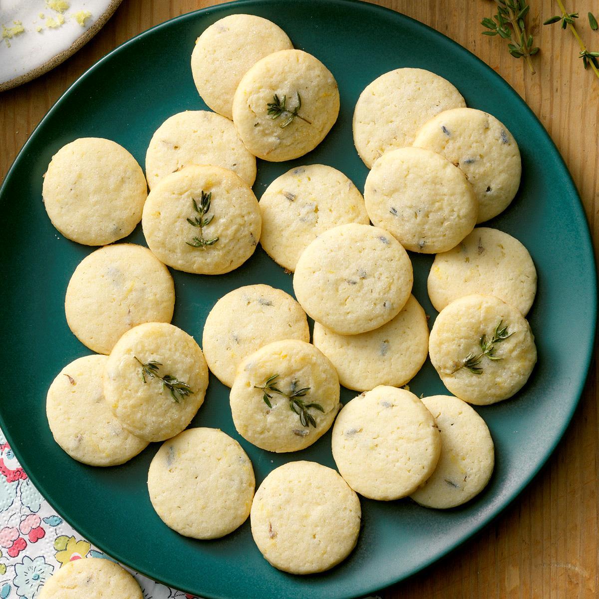 Receta de biscochitos de lavanda y limón