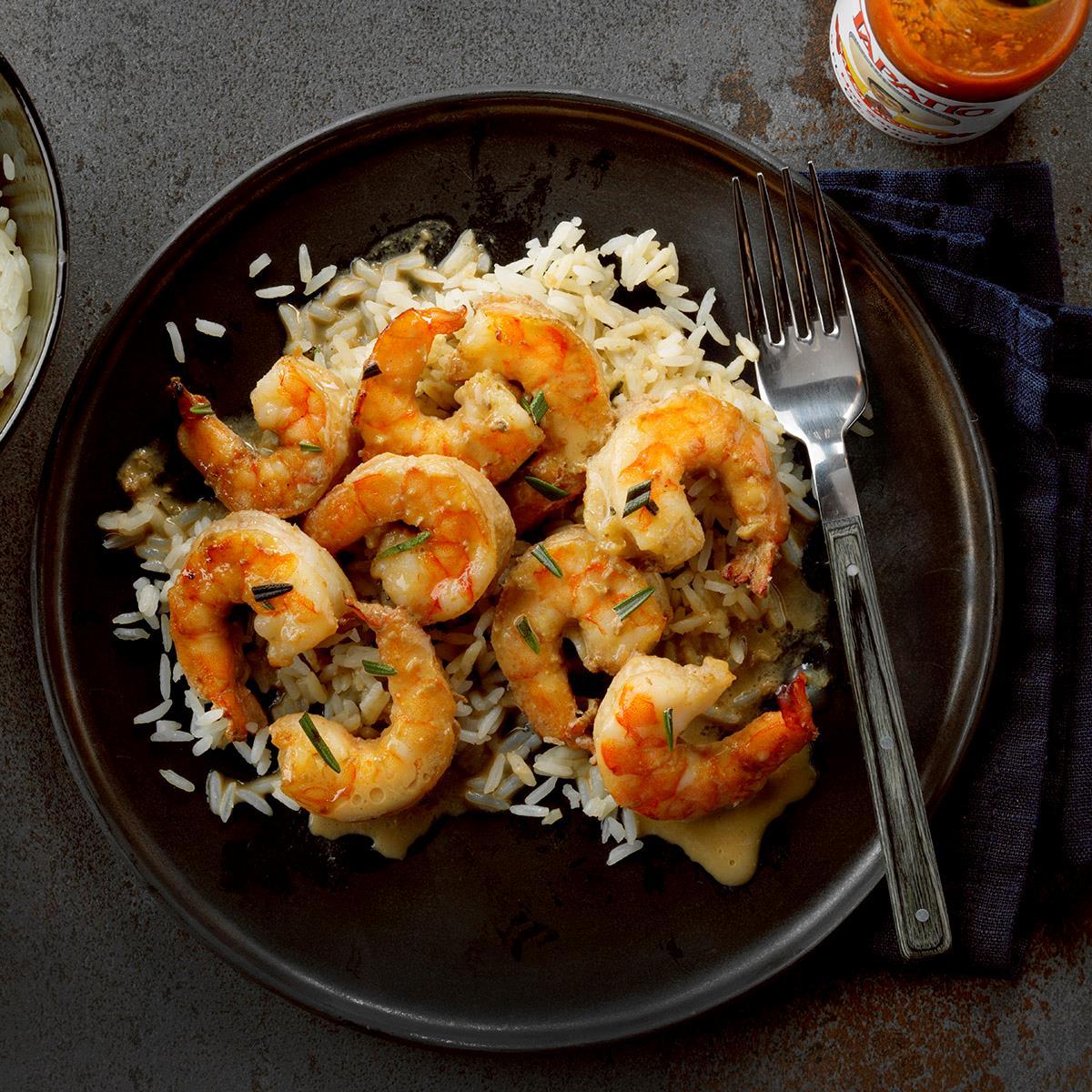 Receta de camarones con mantequilla de limón asado