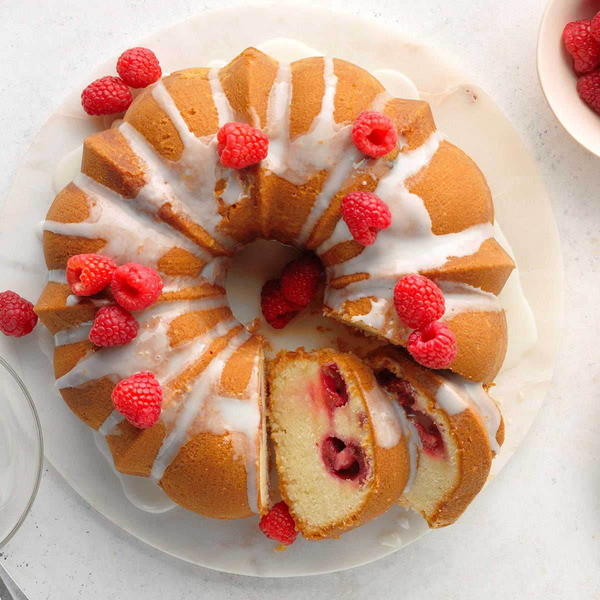 Receta de pastel de frambuesa y mula de Moscú