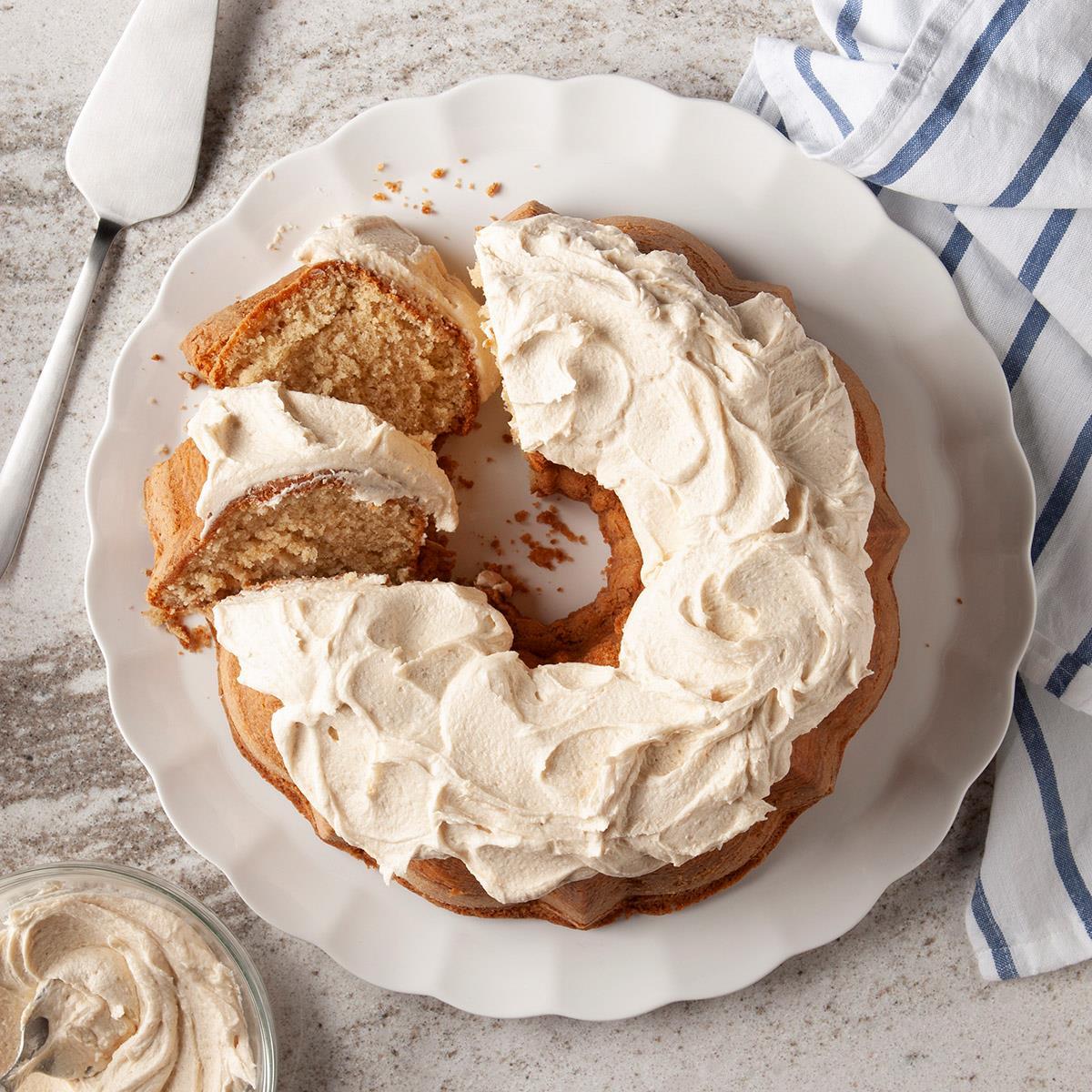 Receta de pastel de mantequilla de maní Bundt