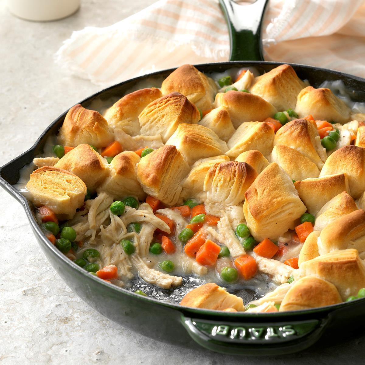 Receta de sartén de galleta de pollo | Sabor de casa