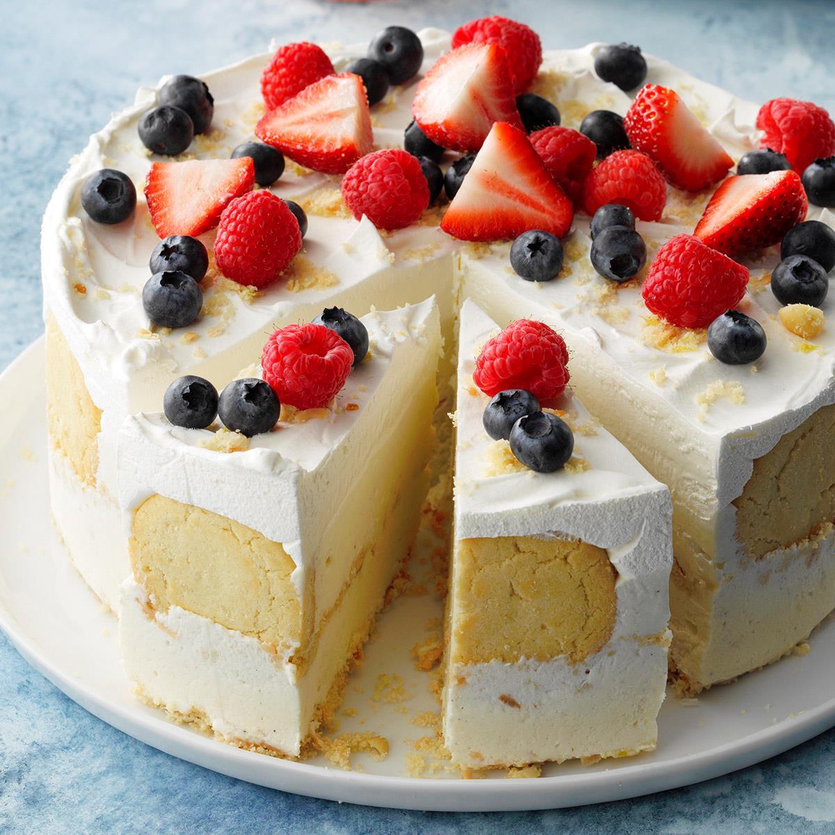 Receta de pastel de helado de coco y limón