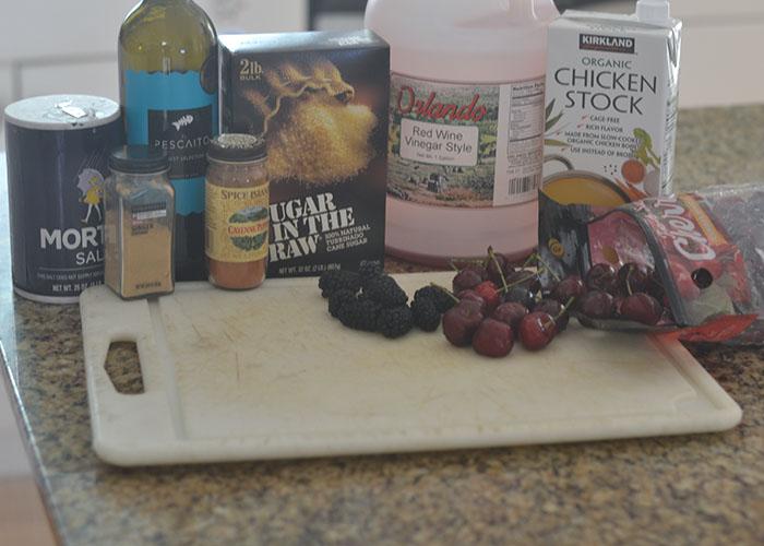 Cherry Sauce Ingredients