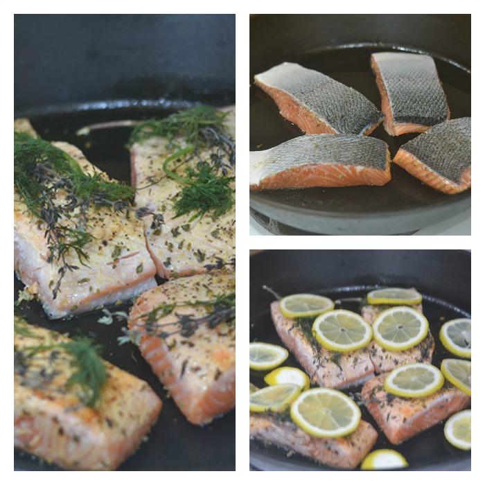 Preparing of the Salmon