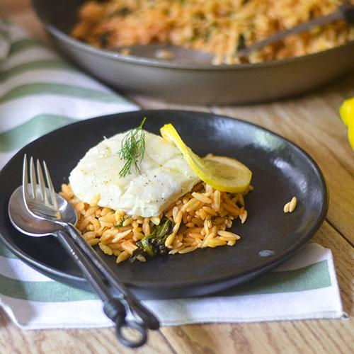 Bacalao al eneldo con limón al horno - Alimenta tu alma también