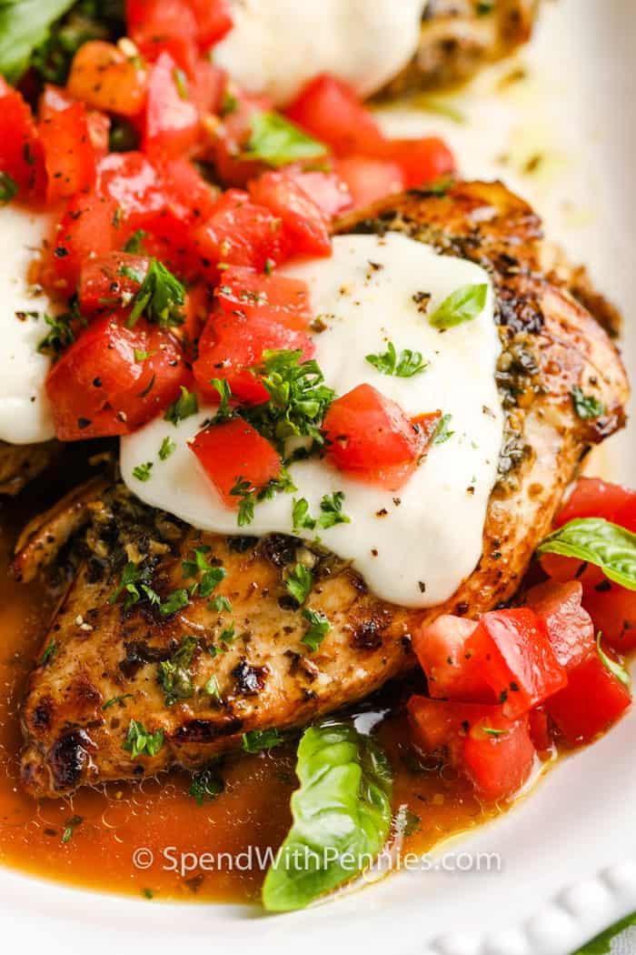 close up of Pesto Chicken