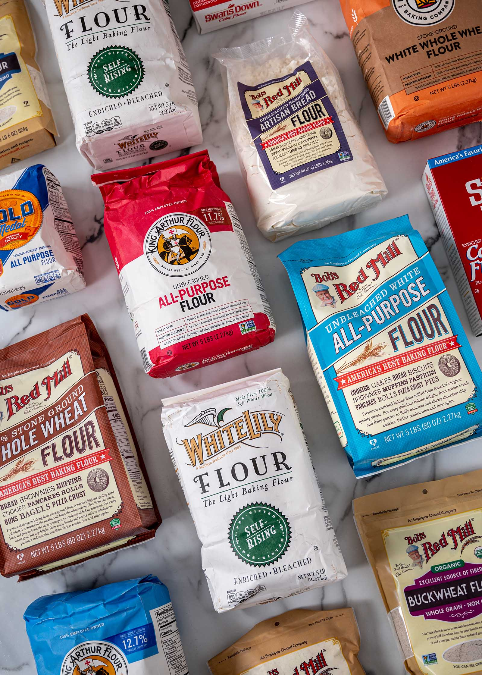 All the flours to cook with