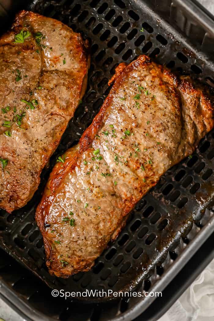 Air Fryer Steak in the air fryer