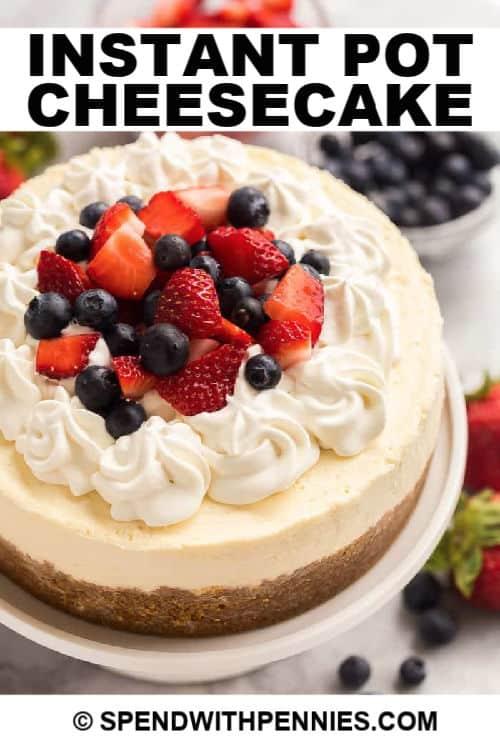 Cheesecake instantáneo con escritura