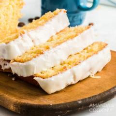 pan de limón de cerca