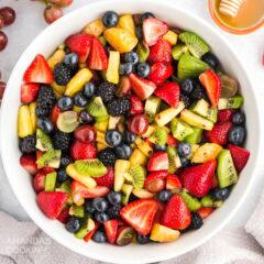 tazón de ensalada de frutas