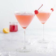 dos bebidas de dama rosa