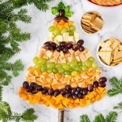 Bandeja de queso de árbol de Navidad