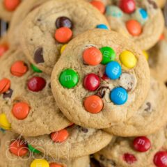 galletas con chispas de chocolate m & m