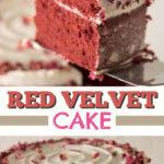 imagen de pin de pastel de terciopelo rojo