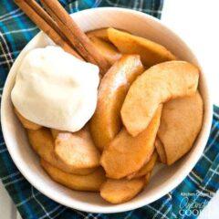 manzanas y canela con helado