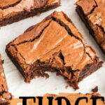 imagen de pin de brownies de dulce de azúcar