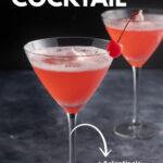 imagen de pin de cóctel de dama rosa
