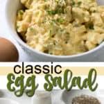 Imagen clásica de pin de ensalada de huevo