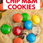 imagen de pin de galletas m & m con chispas de chocolate