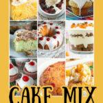 imagen de pin de recetas de mezcla de pastel