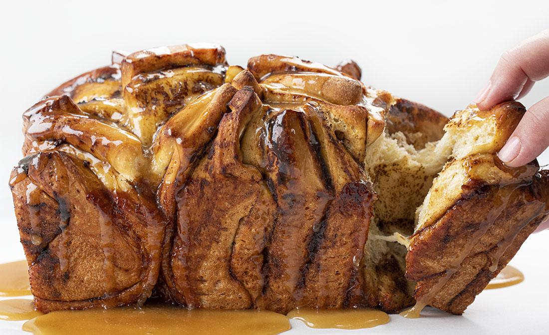 Pan de mantequilla de manzana