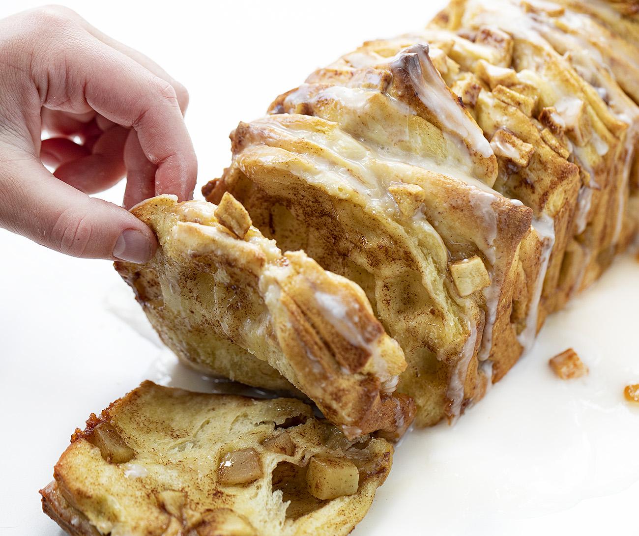 Pan de manzana para separar
