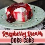 imagen de pin de tarta de sueño de frambuesa